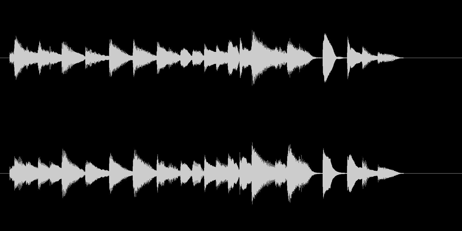 メヌエット風ピアノソロの未再生の波形