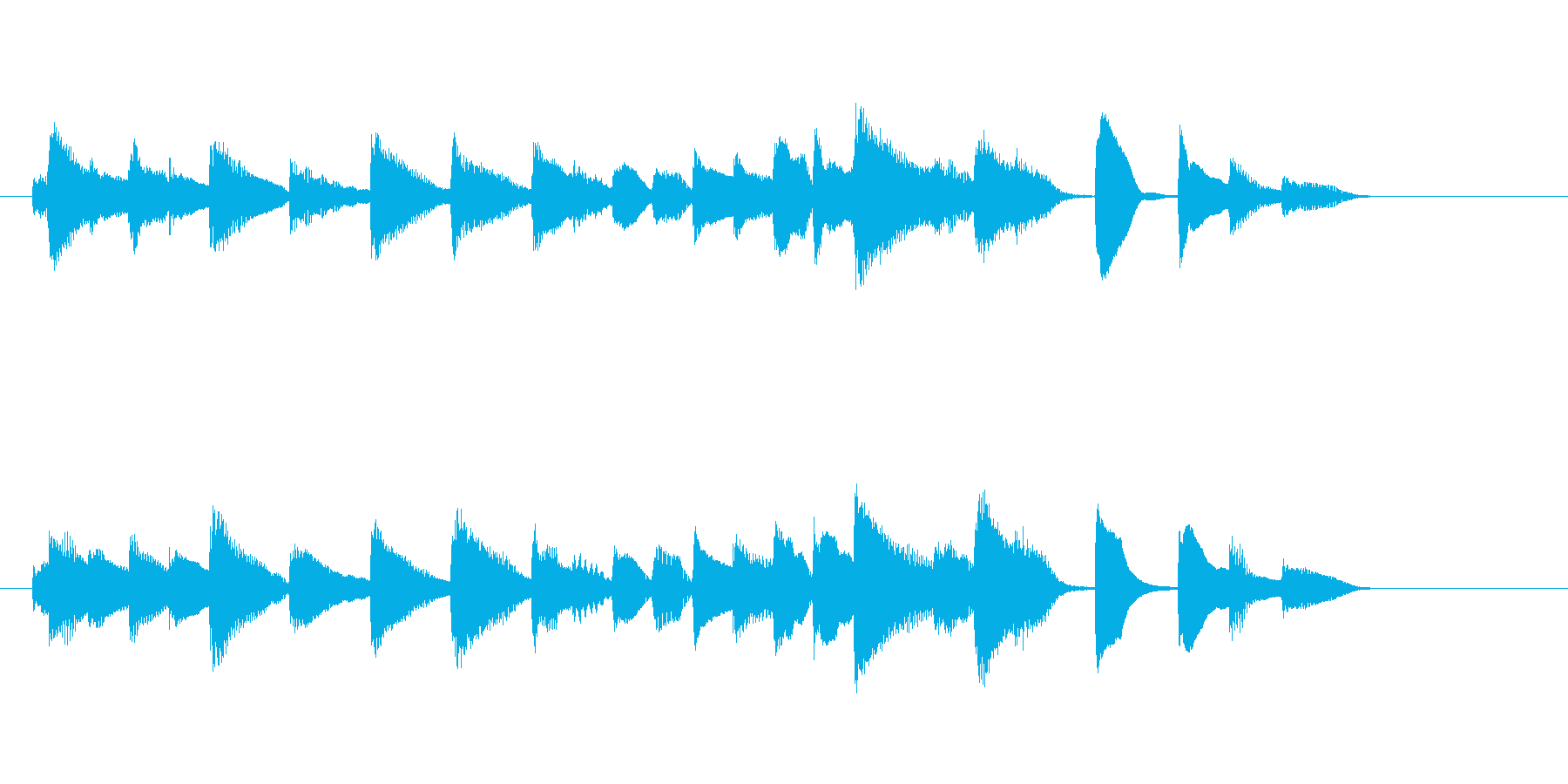 メヌエット風ピアノソロの再生済みの波形