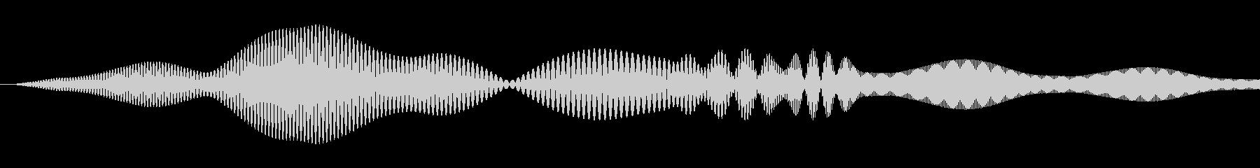 シンプルな決定音4の未再生の波形