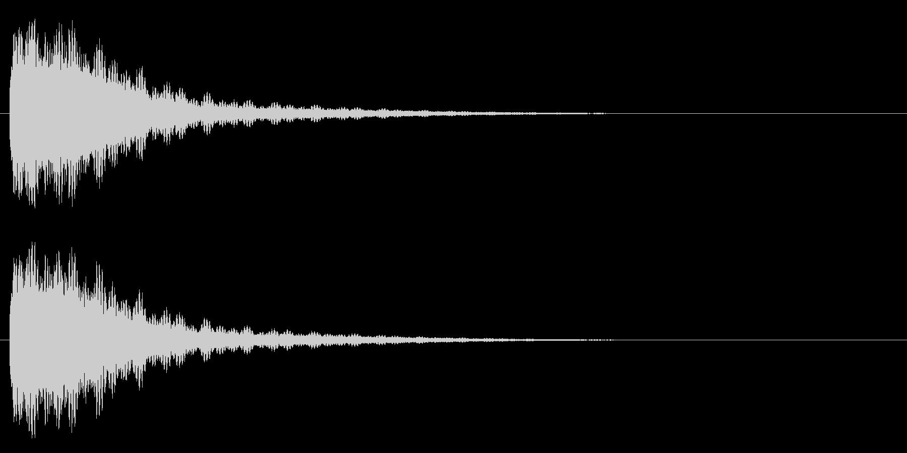 バッシュー(機械系)の未再生の波形