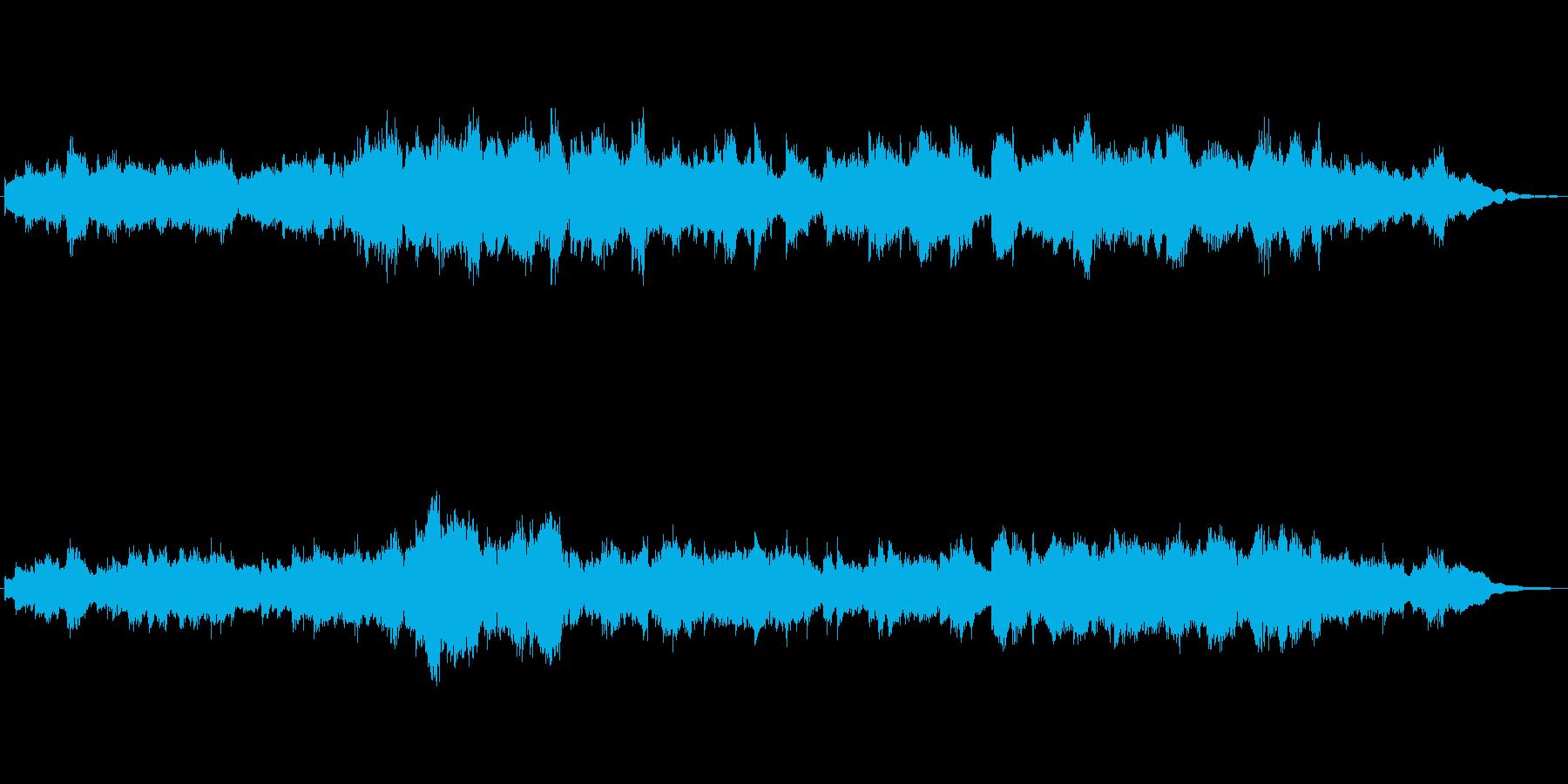 ギターとハーモニカの牧歌的なジングルの再生済みの波形