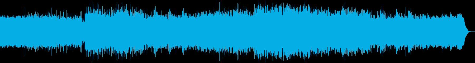 ダークなパイプオルガンと聖歌隊の再生済みの波形
