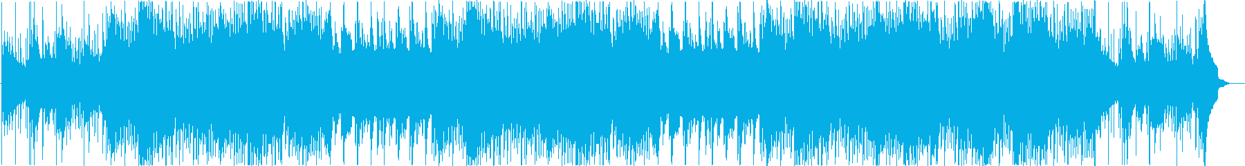 高揚感溢れる綺麗めシンプルなメロディの再生済みの波形