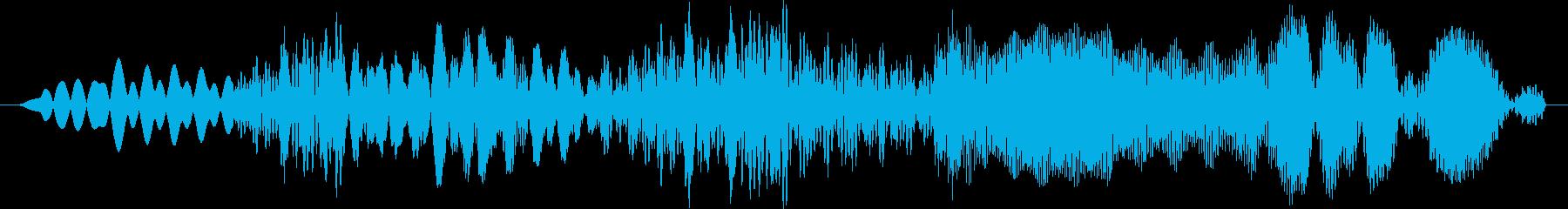 きしみ音のコンピューターデータまた...の再生済みの波形