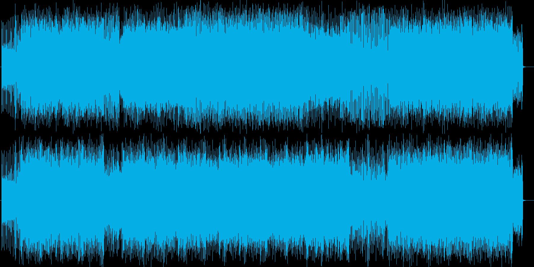 スピーディーでクールなエレキハードロックの再生済みの波形