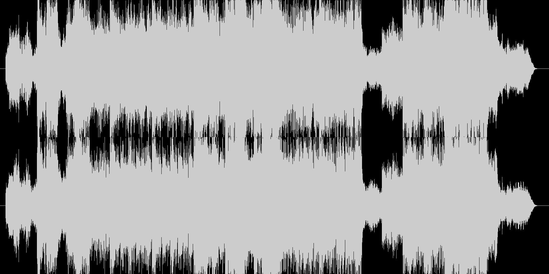 異国情緒溢れる神秘的なデジタルサウンドの未再生の波形