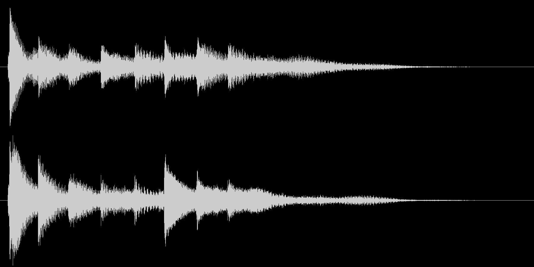 ピアノ転回音13・サウンドロゴの未再生の波形
