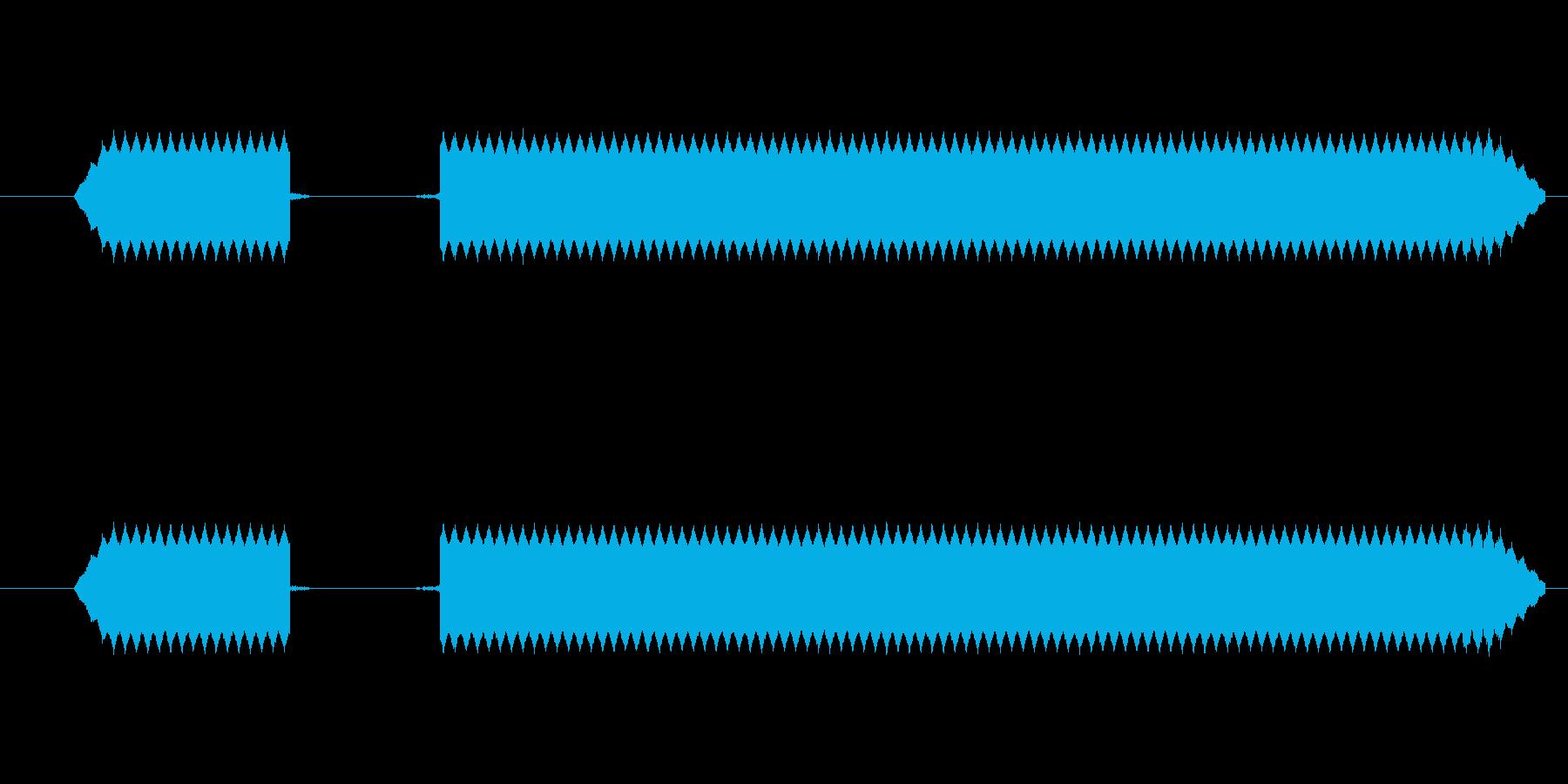 ブブー【エラー音、ブザー、不正解、失敗】の再生済みの波形