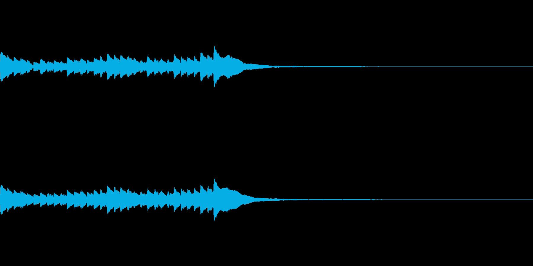 [piano trill]の再生済みの波形