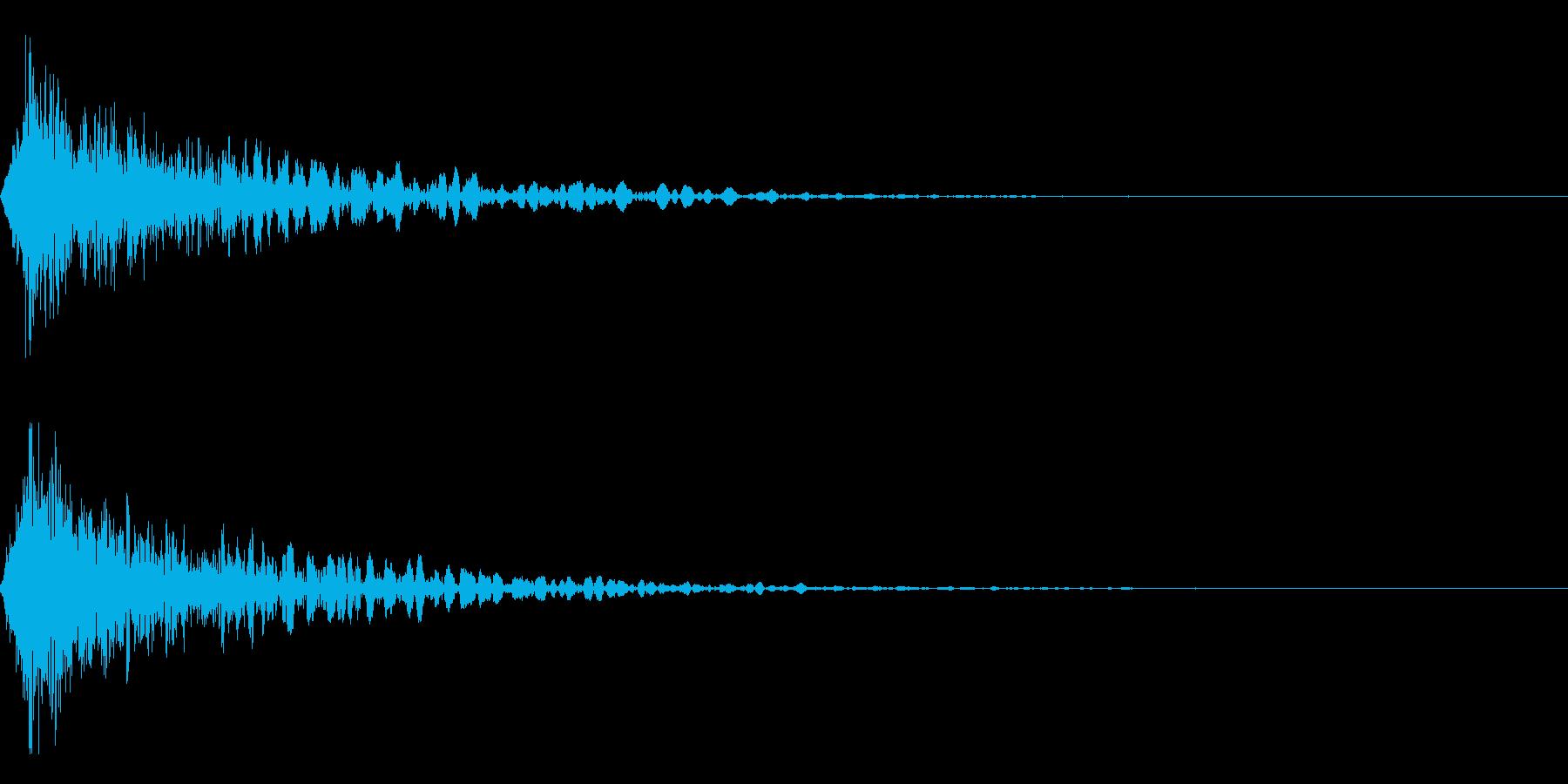 ホラー系アタック音69の再生済みの波形