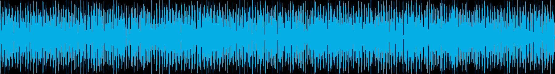 8bit風チューン(ワクワク)ループ用の再生済みの波形