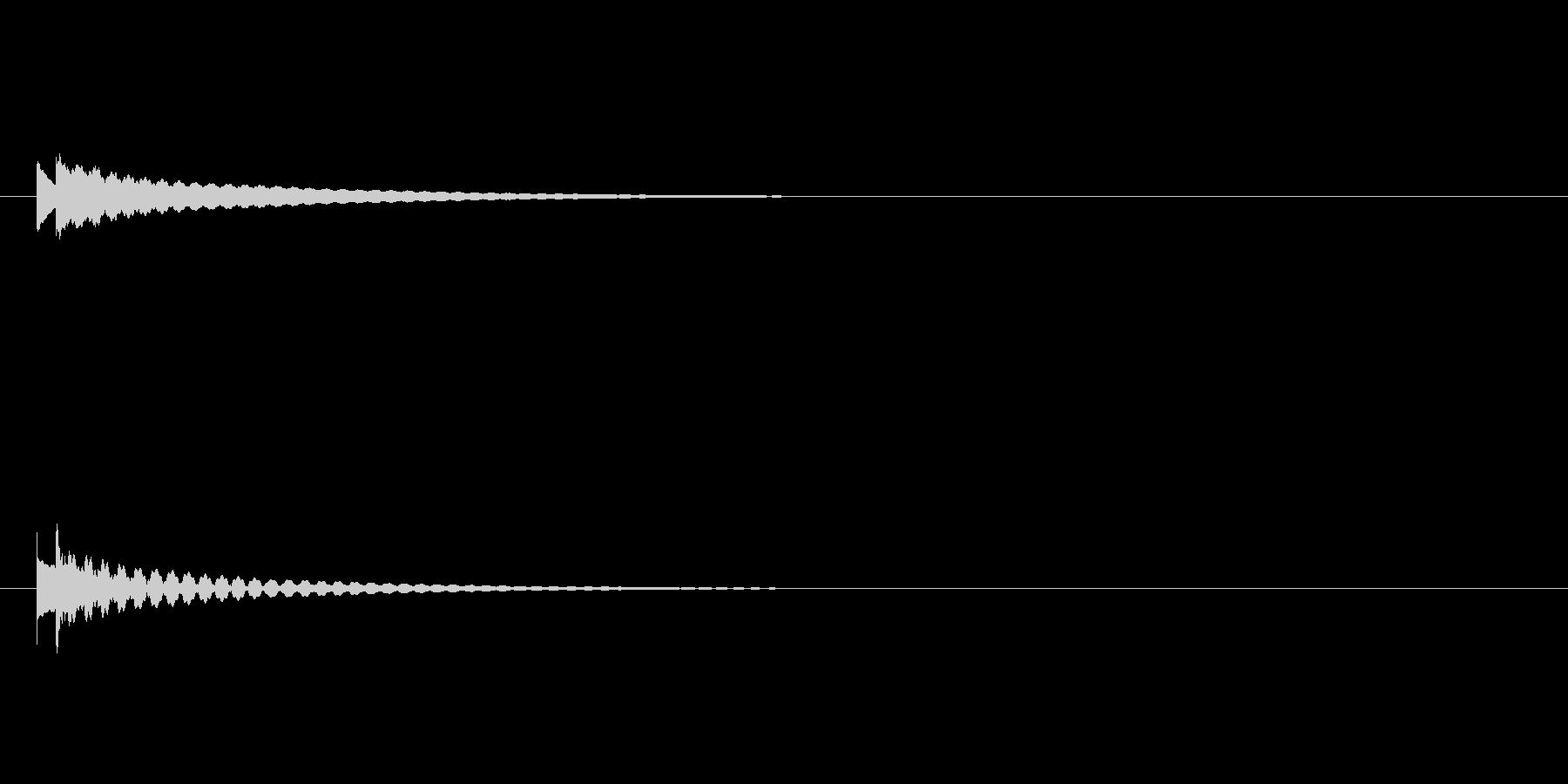 キラーン/クロタル(鐘)のキラキラ効果音の未再生の波形