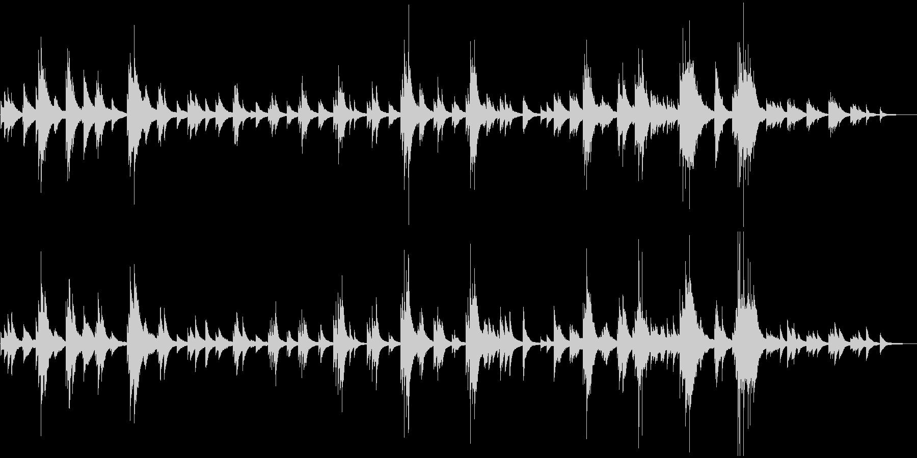 心休まるピアノリラクゼーションBGMの未再生の波形