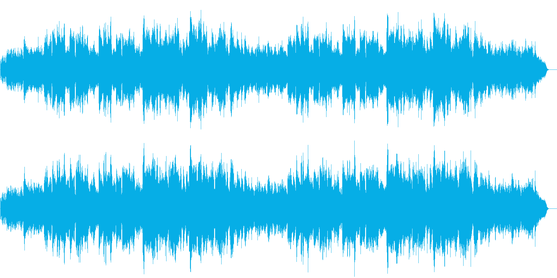 幻想的で孤独なイメージのBGMの再生済みの波形