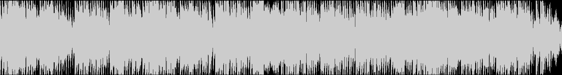 ファンクなサックスのループ音楽の未再生の波形