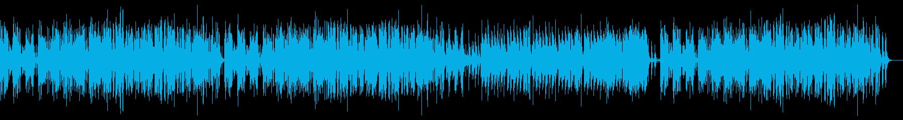 マリンバとオーボエの明るく軽快なポップスの再生済みの波形
