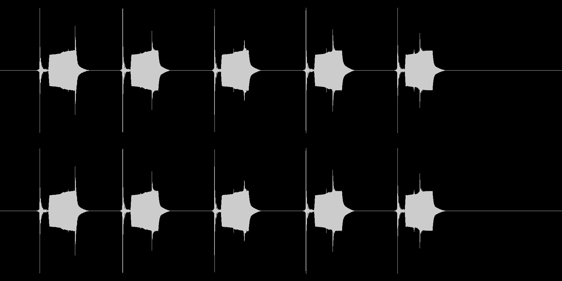 携帯電話 ハードウェア02-02(ボタンの未再生の波形