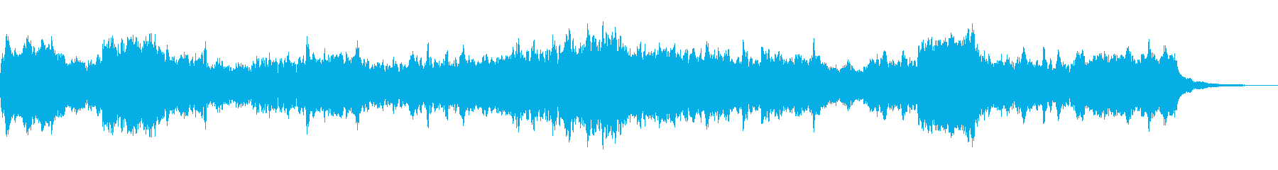 じんわり温かみを感じるヒーリング系BGMの再生済みの波形