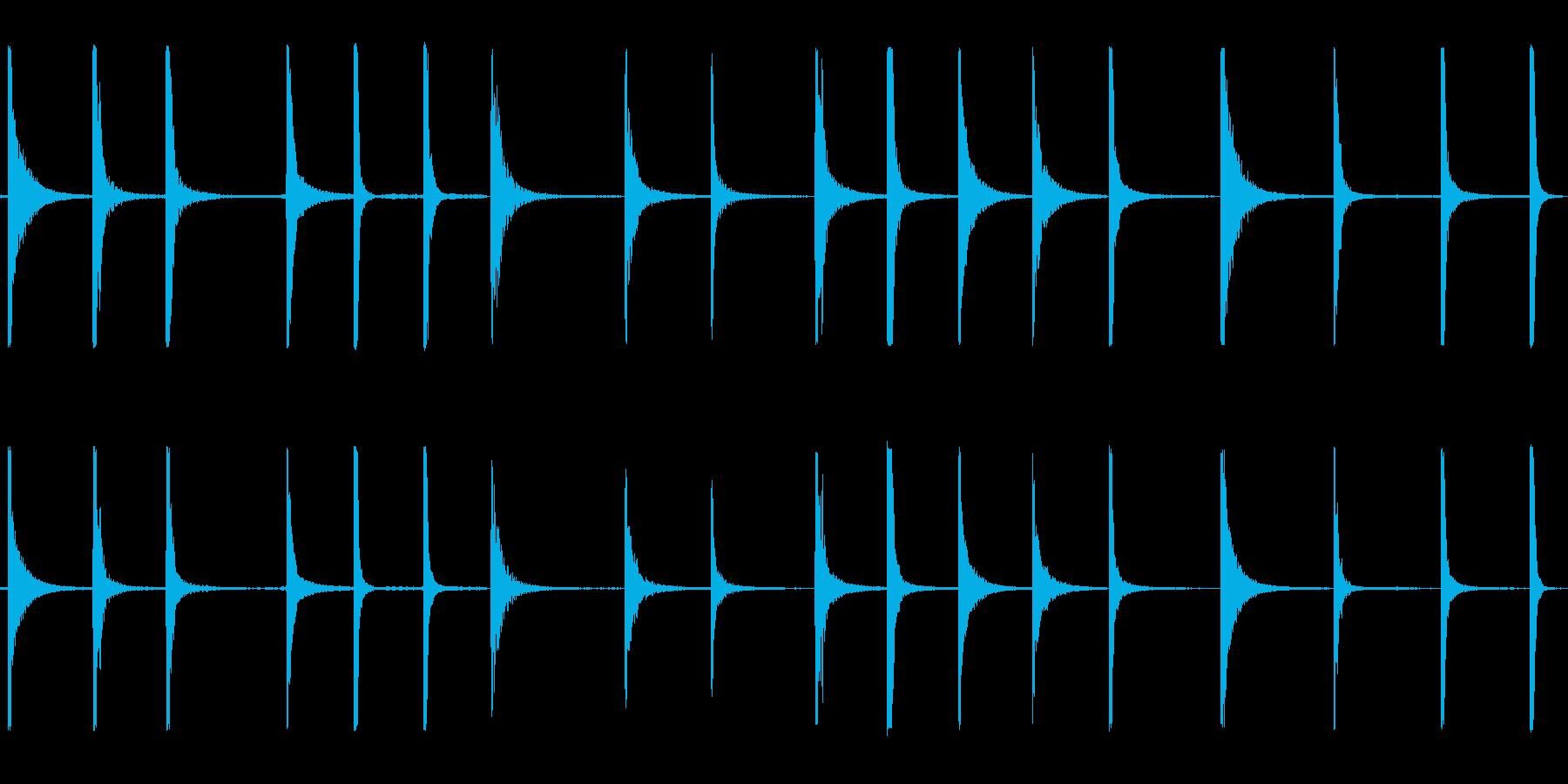 ドラムヒットの再生済みの波形