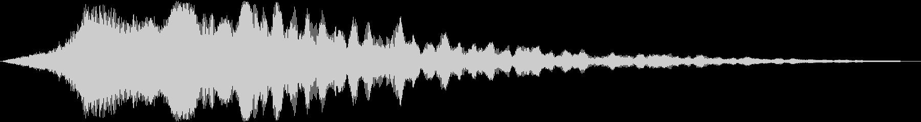 迫力のタイトルロゴ(映画・トレーラー)4の未再生の波形