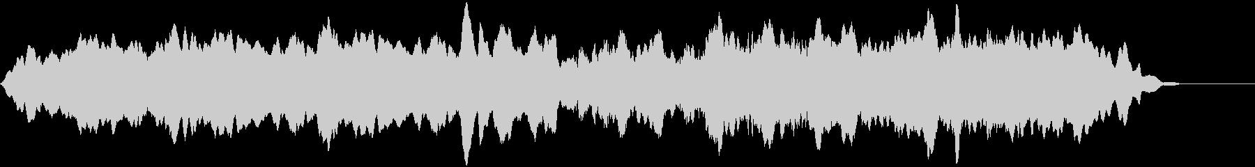 ゆっくりしたうなり声で安定したサブ...の未再生の波形