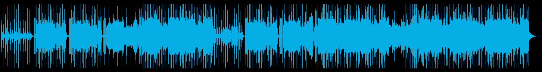 クールで華やかなK-POPのトラックの再生済みの波形
