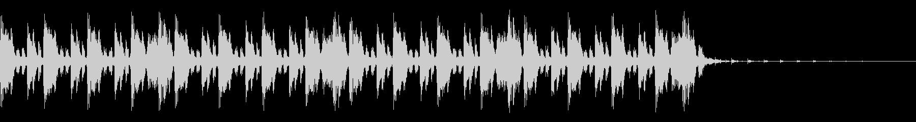 ドラムンベース風のジングルの未再生の波形