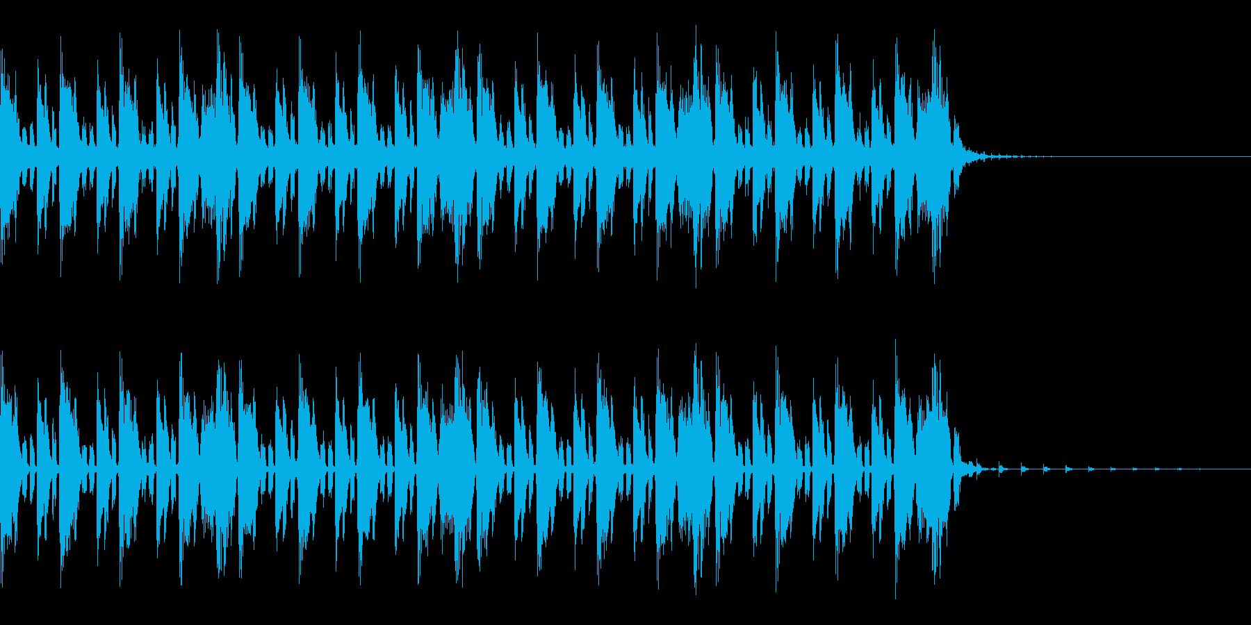 ドラムンベース風のジングルの再生済みの波形