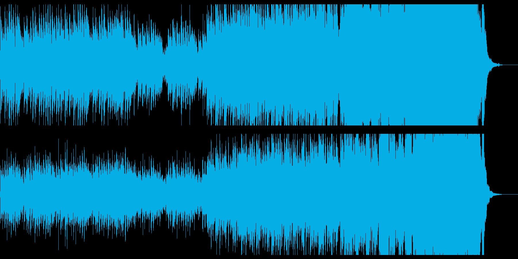 キラキラした前向きで懐かしい曲の再生済みの波形