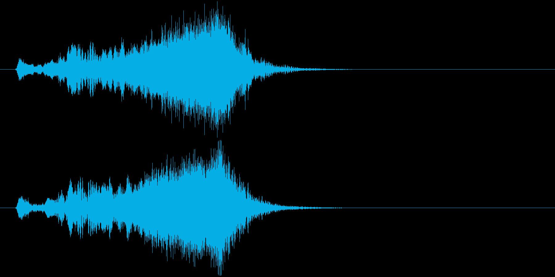 ジングル サウンドロゴ 8秒 尺八 和風の再生済みの波形