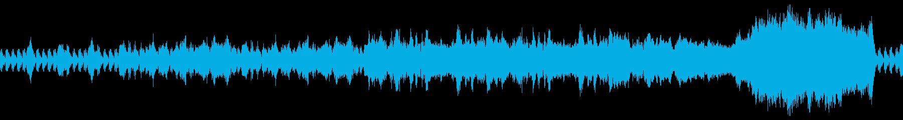 戦闘をイメージしたオーケストラ曲の再生済みの波形