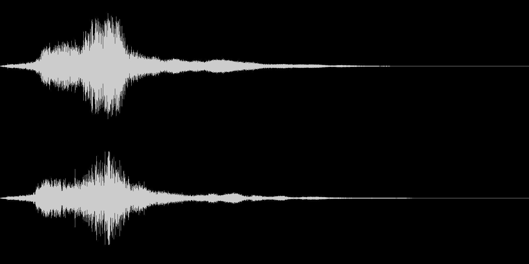 刀の素振り(シュキーン)の未再生の波形