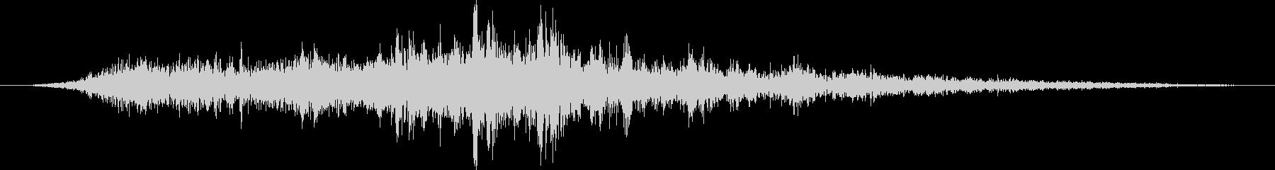 トラム:内線:パスバイの未再生の波形