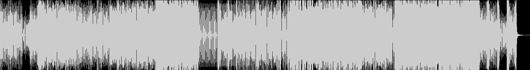 ダークな雰囲気のEDM BGMの未再生の波形