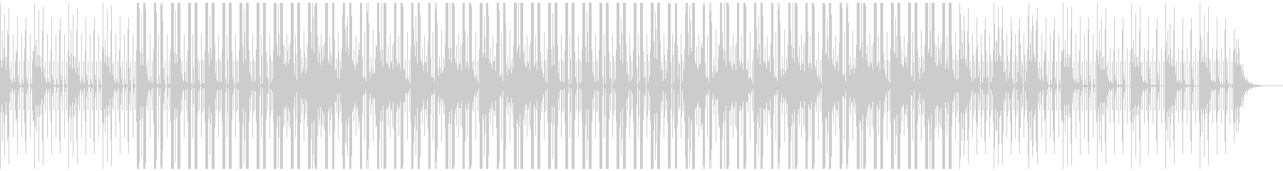 チルアウトなヒップホップBGMの未再生の波形