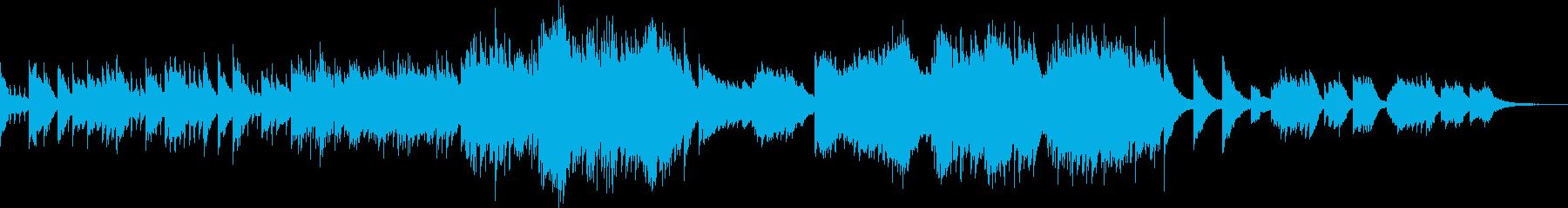 悲痛な孤独の3拍子ピアノソロ曲の再生済みの波形