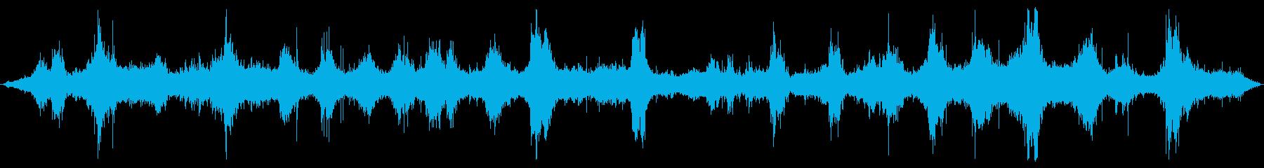 海洋:火山岩の上に重い波が来る、重...の再生済みの波形