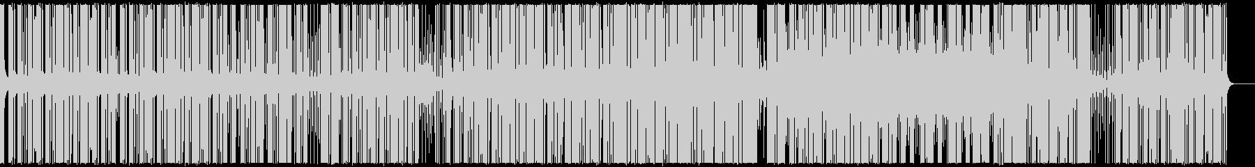 官能的な淡々としたリズム主体の音楽の未再生の波形