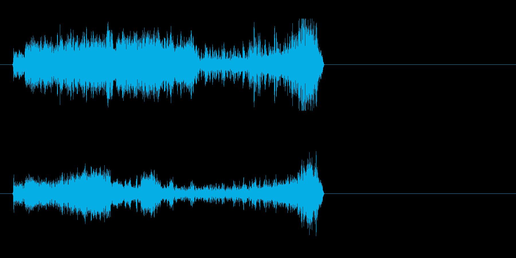 ハイクオリティなFMラジオジングルの再生済みの波形