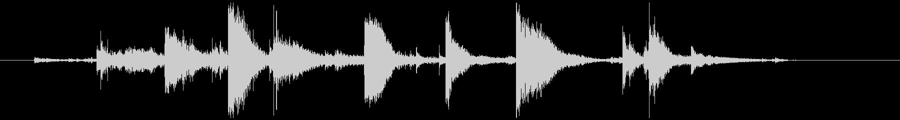 キーホルダー 金属音 高め(チャリチッ)の未再生の波形