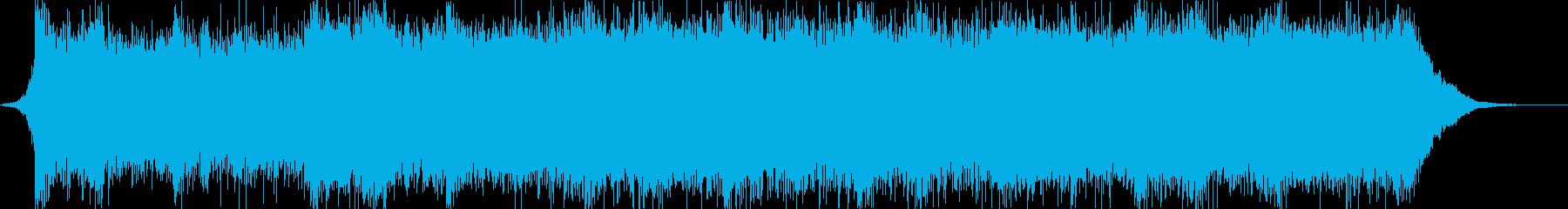 重厚なオーケストラによる緊迫シーンの再生済みの波形