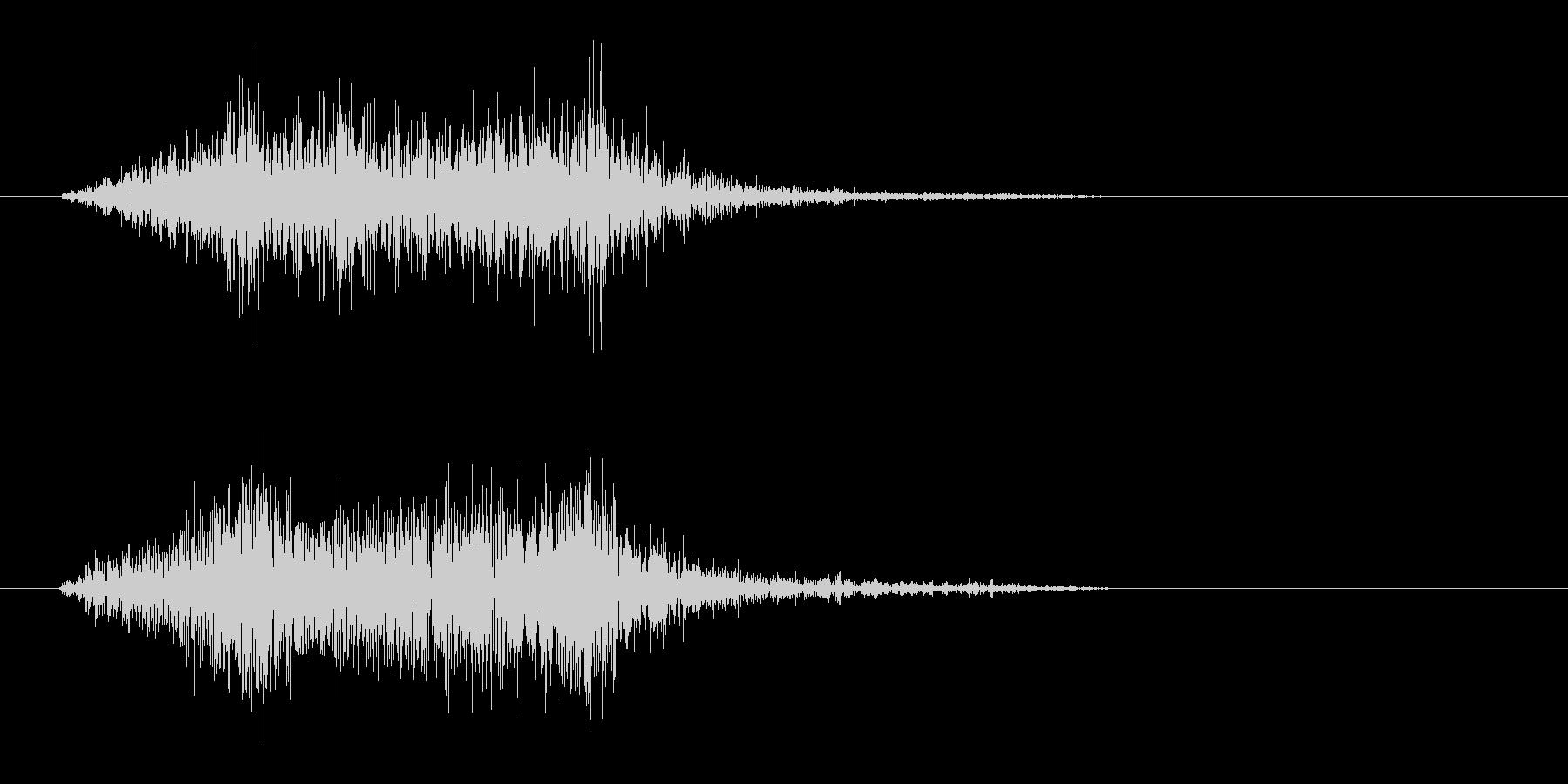 シュッ(摩擦音)短めの未再生の波形