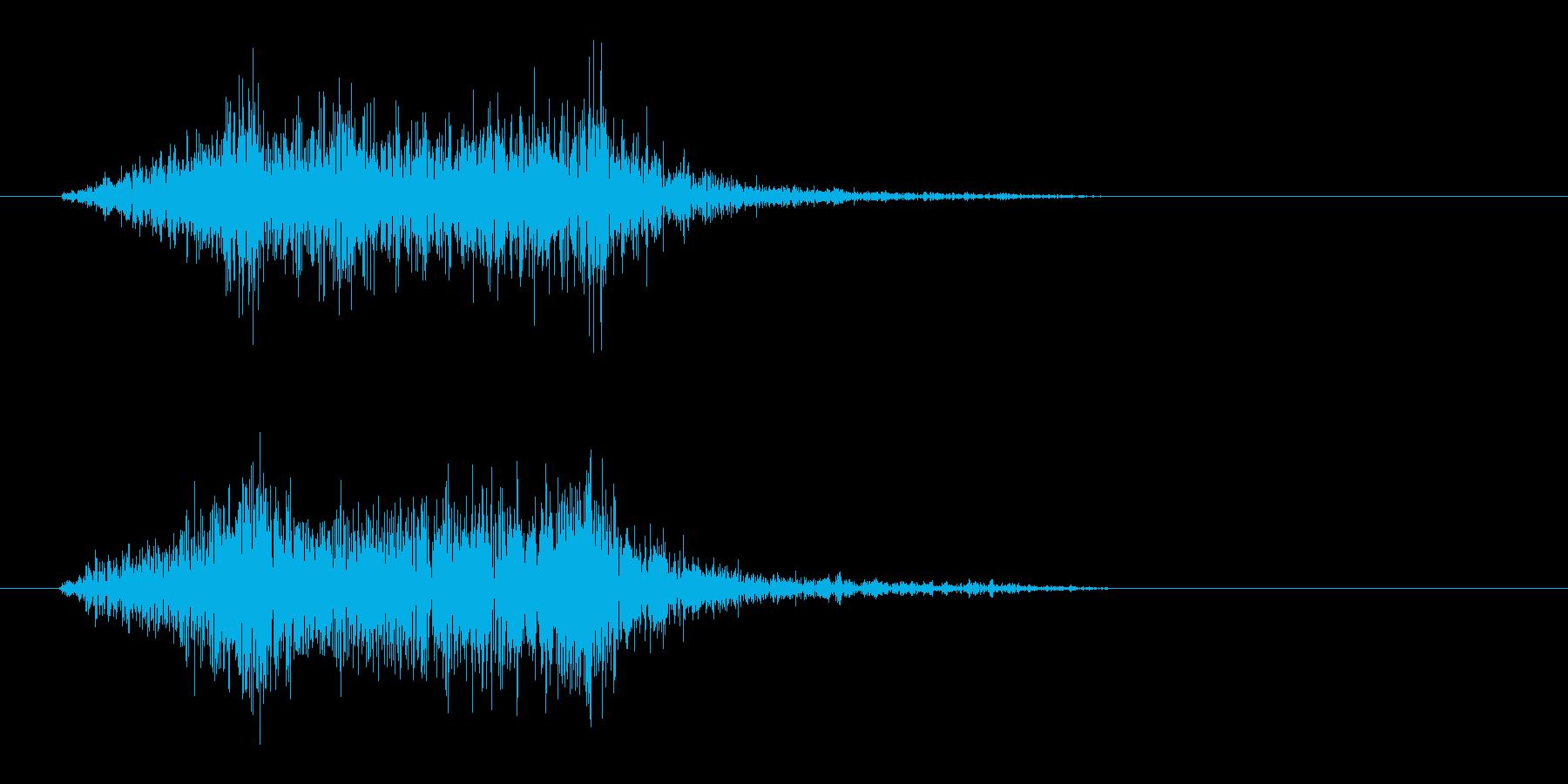 シュッ(摩擦音)短めの再生済みの波形
