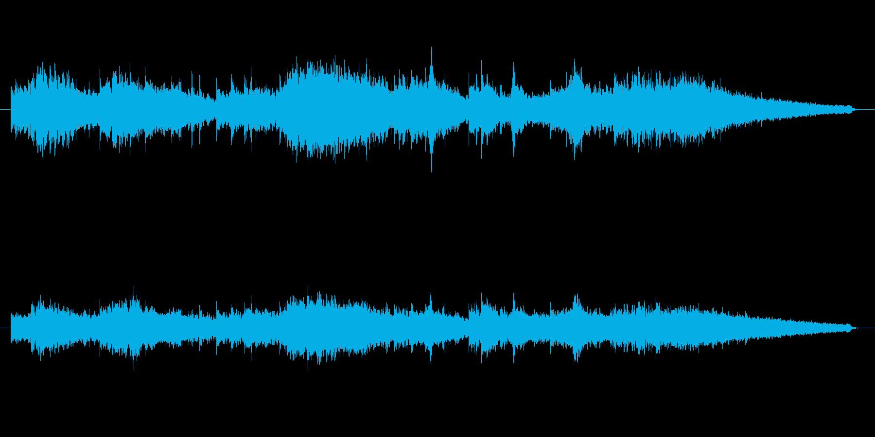 シンセサイザーの宇宙的な音の再生済みの波形