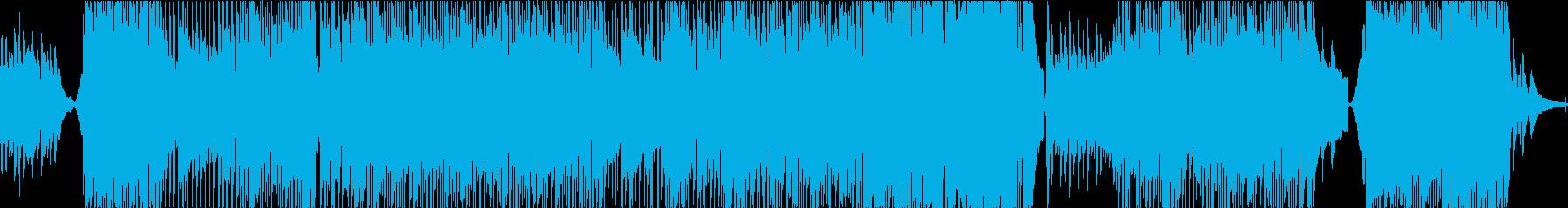 ゆったりアコースティックな優しい曲の再生済みの波形