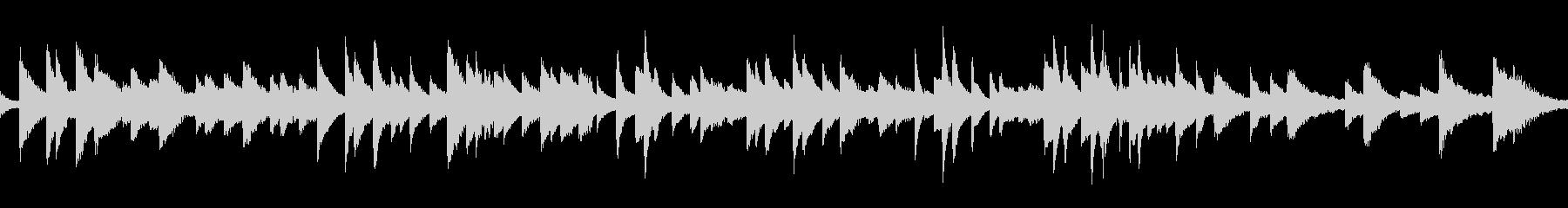 ループ 生ピアノ ソロ  切ないバラードの未再生の波形