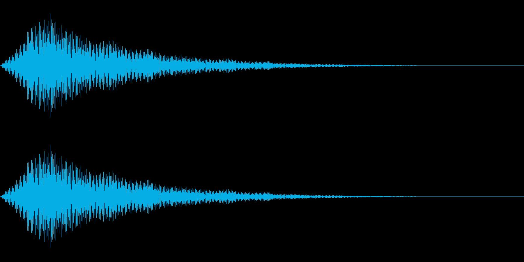 不気味、嫌な気配を感じた時の効果音の再生済みの波形