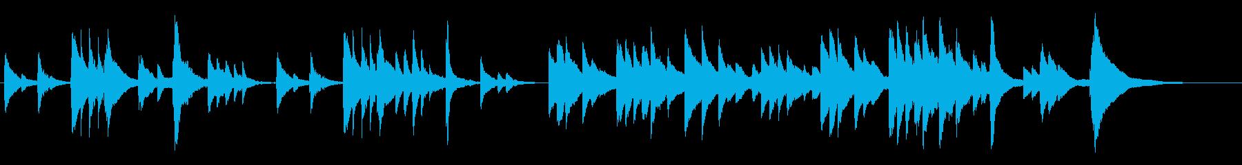 感動するシーンに使えそうな曲の再生済みの波形