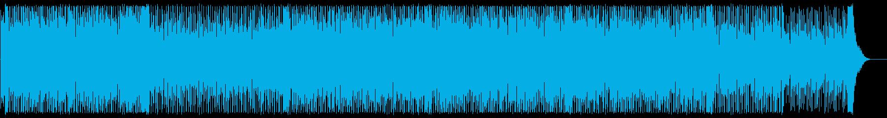 爽やかシンセのテクノポップの再生済みの波形
