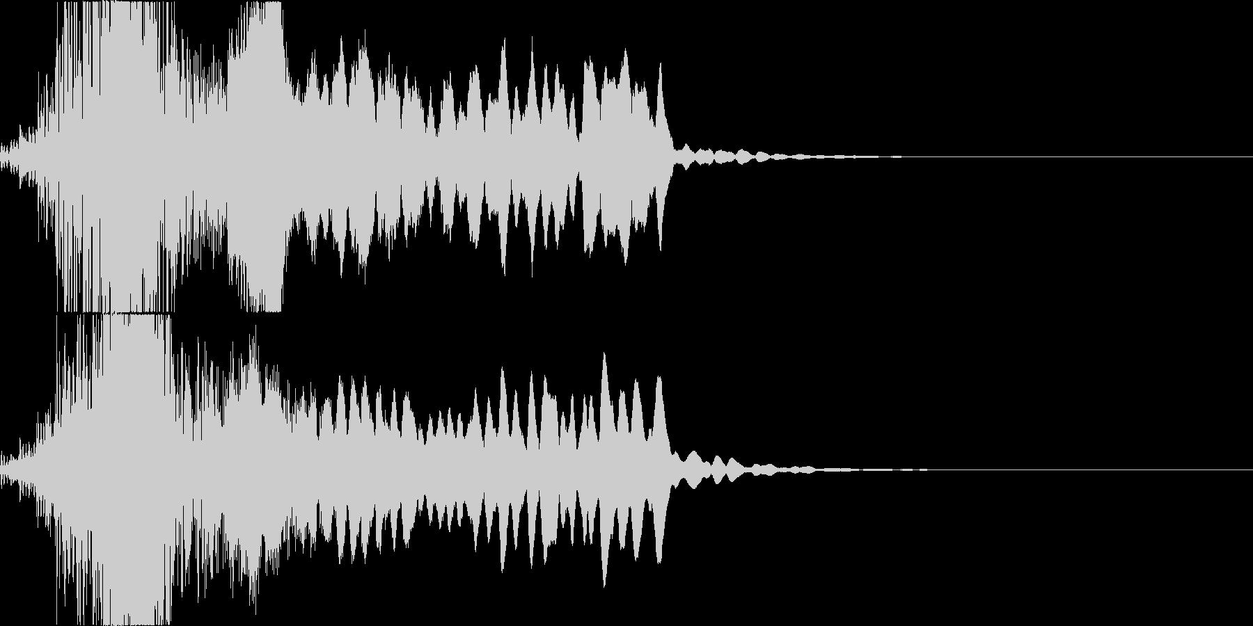 太鼓と尺八のかっこいい和楽器ダラララドンの未再生の波形
